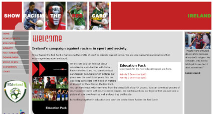 Show Racism the Red Card screengrab
