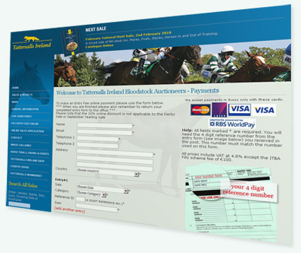 Tattersalls Entry Payments Page