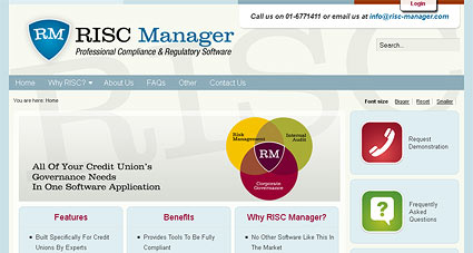 RISC Manager website & logo